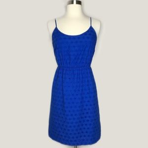 Madewell Eyelet Fit and Flare Dress